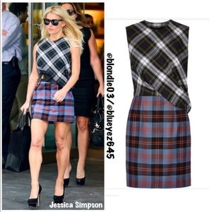 McQ by Alexander McQueen plaid dress IT 38 US 2